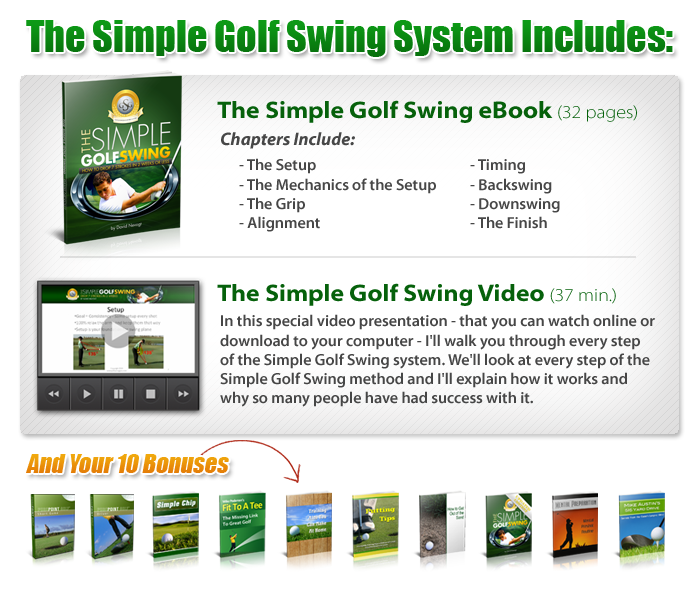 the simple golf swing package